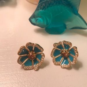 Kate Spade blue flower stud earrings